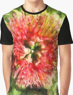 Surreal Red Flower Graphic T-Shirt