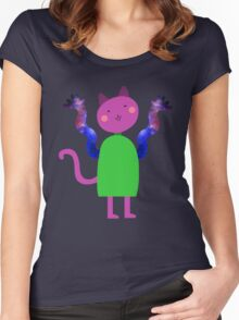 universe hands cat Women's Fitted Scoop T-Shirt