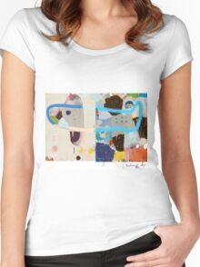 Abstract talk 002 Women's Fitted Scoop T-Shirt