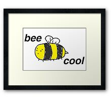 Bee Cool: Colour! Framed Print