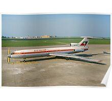 Tupolev Tu-154B LZ-BTE Balkan Bulgarian Airlines Poster