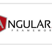 AngularJS Framework White Sticker