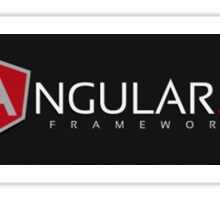 AngularJS Framework Black Sticker
