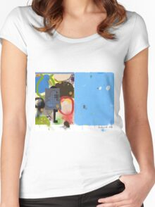 Abstract talk 003 Women's Fitted Scoop T-Shirt