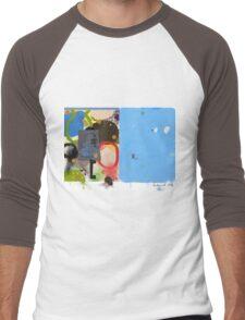 Abstract talk 003 Men's Baseball ¾ T-Shirt