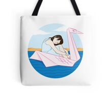 girl and the sea: swan Tote Bag