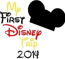 My First Disney Trip Vacation T-Shirt New by jtabdesigns