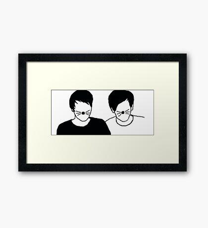 Dan and Phil Silhouette Framed Print