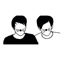 Dan and Phil Silhouette Photographic Print