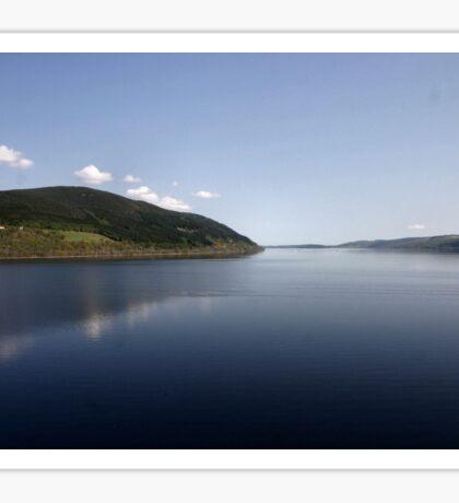 Loch Ness reflections Sticker