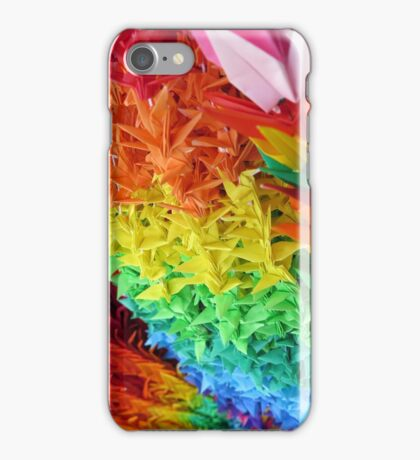 Japanese Rainbow Paper Cranes iPhone Case/Skin