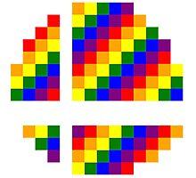 Rainbow 8-Bit Smash Ball Photographic Print