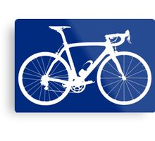 Bike White (Big) Metal Print