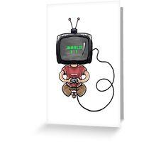 TV Head Greeting Card