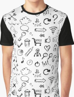 Seamless pattern of web icons Graphic T-Shirt