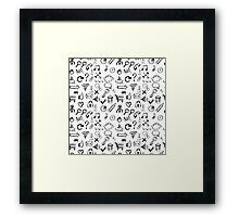 Seamless pattern of web icons Framed Print
