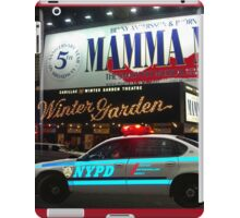 NYPD patrol, Broadway, New York iPad Case/Skin