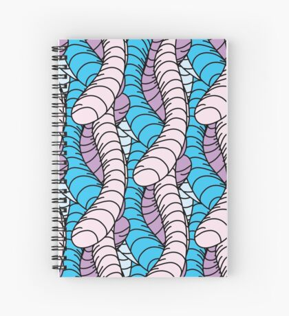 Colorful Seamless Abstract Pattern Spiral Notebook