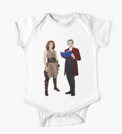 12th Doctor and River Song One Piece - Short Sleeve
