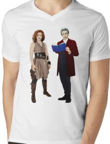 12th Doctor and River Song Mens V-Neck T-Shirt