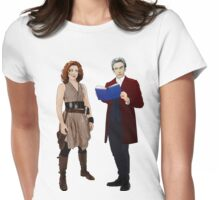 12th Doctor and River Song Womens Fitted T-Shirt