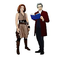 12th Doctor and River Song Photographic Print