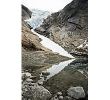 At the Edge of the Glacier Photographic Print