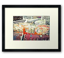 Rooftop views Framed Print