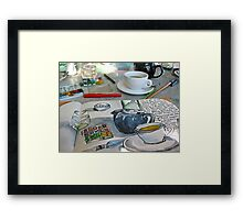 the sketching tea party Framed Print