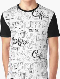 Coffee , hand drawn lettering Graphic T-Shirt