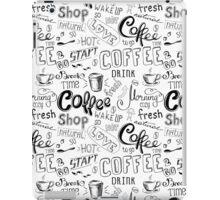 Coffee , hand drawn lettering iPad Case/Skin