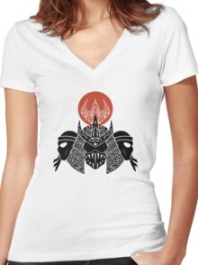 Foot Clan Women's Fitted V-Neck T-Shirt