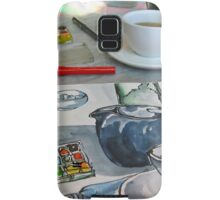 the sketching tea party Samsung Galaxy Case/Skin