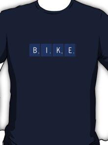 Bike Scrabble (Blue) T-Shirt