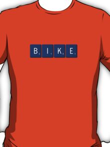 Bike Scrabble (Blue) T-Shirt