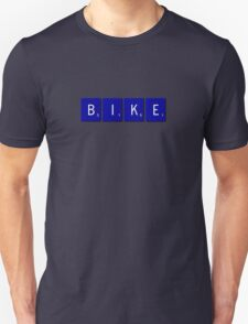 Bike Scrabble (Blue) Unisex T-Shirt