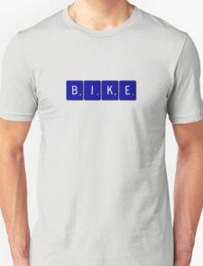 Bike Scrabble (Blue) Unisex T-Shirt