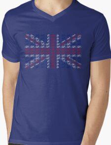 Bike Flag United Kingdom (Small) Mens V-Neck T-Shirt