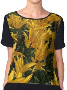 Yellow Tulips .. Chiffon Top