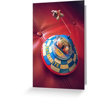 UFO Flying Saucer Toy Greeting Card