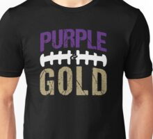 Washington Purple And Gold Football Unisex T-Shirt