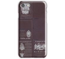 0344 Railroad Maps New trans-continental map of the Pacific R R and routes of overland travel to Colorado Nebraska the Black Hills Utah Idaho Nevada Montana California and Inverted iPhone Case/Skin