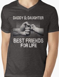 Daddy & Daughter - Best Friends For Life Mens V-Neck T-Shirt