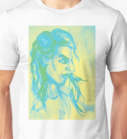 Colorful delicate watercolor portrait of girl Unisex T-Shirt
