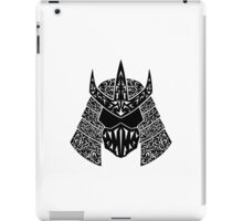 Shred Head (black) iPad Case/Skin