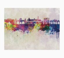 Pune skyline in watercolor background One Piece - Short Sleeve