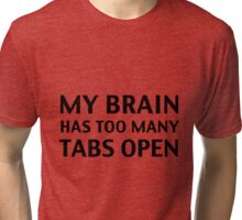 My Brain Has Too Many Tabs Open Tri-blend T-Shirt