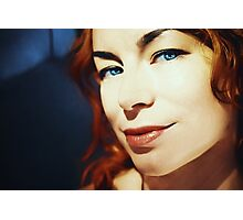 Portrait of redhead girl with blue eyes Photographic Print