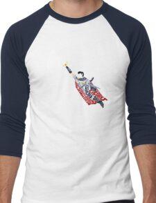 Marth Typography Men's Baseball ¾ T-Shirt