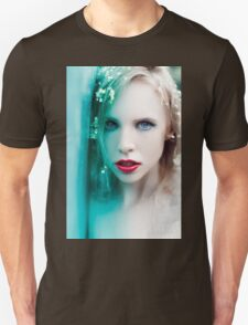 blonde woman with flowers Unisex T-Shirt